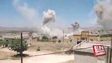 Esad rejimi İdlib'i bombaladı