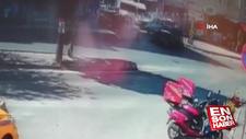 Kartal'da motosikletli otomobile hızla çarptı