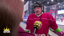 Belarus Devlet Başkanı, virüse rağmen hokey maçına çıktı