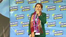 Trabzon mitinginde konuşan Meral Akşener gaf yaptı