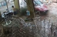 Vietnamlı gencin kazadan kurtulma anı