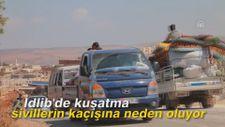 İdlib'de kuşatma sivillerin kaçışına neden oluyor