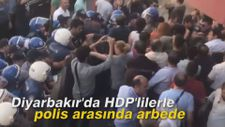 Diyarbakır'da HDP'lilerle polis arasında arbede