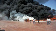 Antalya'da köpük fabrikasında yangın