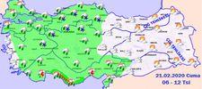 Türkiye Hava durumu 21.02.2020